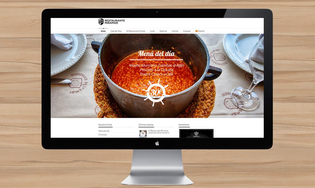 Web Restaurante Miramar